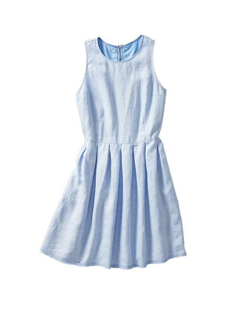 "<p>Market & Retail Editor Harriet Stewart will wear this feminine dress with chunky trainers and a baseball jacket this summer.</p><p><a href=""http://www.gap.co.uk/browse/product.do?cid=1011935&vid=1&pid=000960458003"">Gap</a> dress, £44.95</p>"