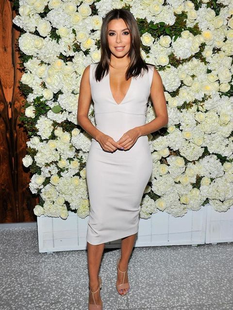 Eva Longoria attends a dinner to celebrate the arrival of Victoria Beckham's Collection to Barneys in New York, April 2015.