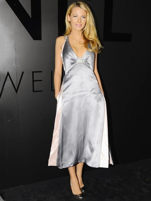 <p>Blake Lively in Chanel couture at Chanel's 80th Anniversary of the 'Bijoux de Diamants' collection, New York.</p>
