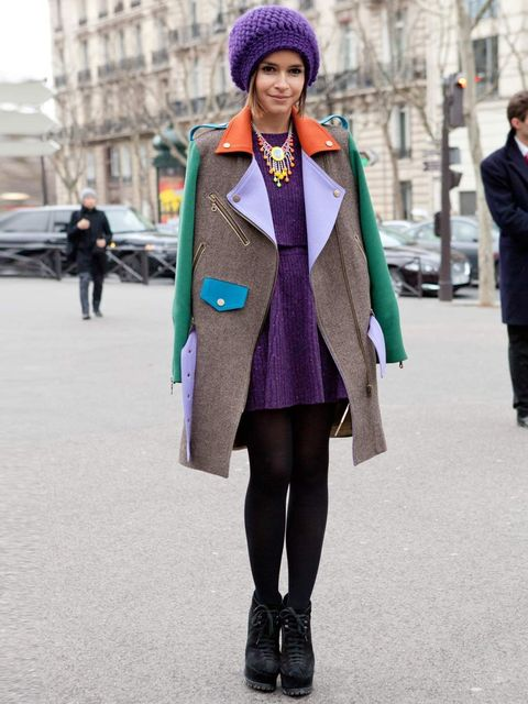 <p>Miroslava Duma in Azzedine Alaia shoes at Paris Fashion Week Autumn Winter 2012.</p><p>The most recognisable of the Russian Fashion Pack, this pint-sized Russian doll was an editor for Harper's Bazaar Russia and now works as a freelance fashion writer.