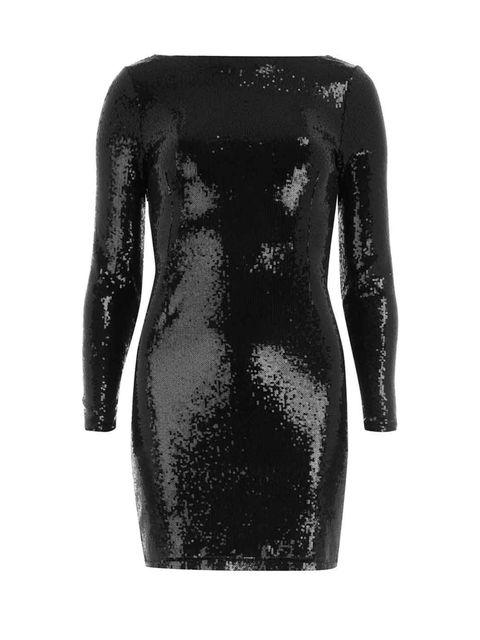 <p>Kardashian Kollection black sequin dress £45 </p>