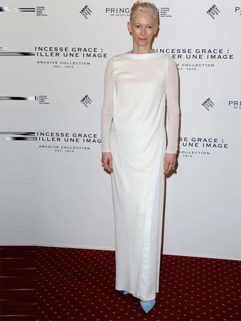 <p>Tilda Swinton attends the Pringle of Scotland Archive Collection: 'Princess Grace: More than an Image' launch, Paris Fashion Week.</p>