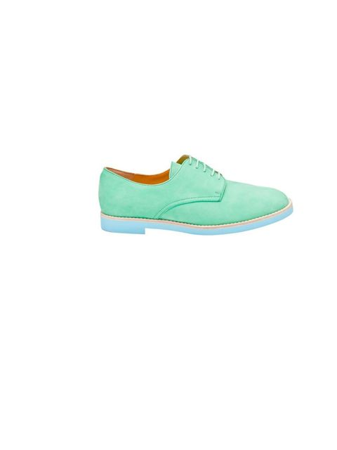 "<p>T & F Slack Shoemakers London, £234, at <a href=""http://www.farfetch.com/shopping/women/t-f-slack-shoemakers-london-colored-oxford-shoe-item-10123729.aspx"">Farfetch</a></p>"