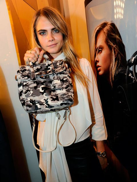 "<p>Cara Delevingne for <a href=""http://www.elleuk.com/fashion/news/cara-delevingne-to-collaborate-with-mulberry"">Mulberry</a>.</p>"