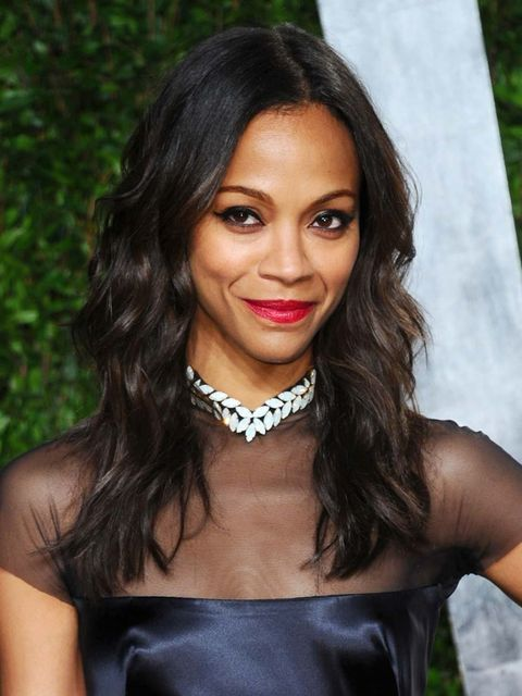 <p>Zoe Saldana, Vanity Fair Post-Oscars Party</p>