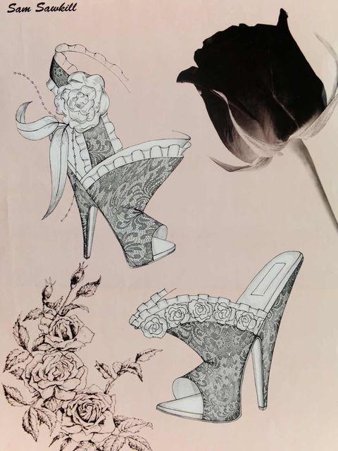<p>Sam Sawkill's shoe design for the Duchess</p>