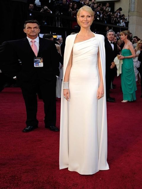 <p>Gwyneth Paltrow wore a dress from Tom Ford's closely guarded autumn winter 12 collection; only seen by a handful of people to date</p>