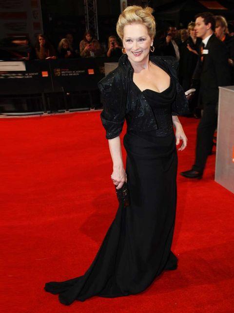 "<p><a href=""http://www.elleuk.com/star-style/news/marylin-gets-michelle-a-bafta-nod"">Best Actress nominee</a> Meryl Streep in <a href=""http://www.elleuk.com/catwalk/designer-a-z/vivienne-westwood/spring-summer-2012"">Vivienne Westwood</a> at the 2012 BAFTA"