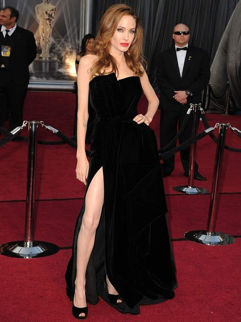 <p>Angelina Jolie in Versace at the 2012 Oscars</p>