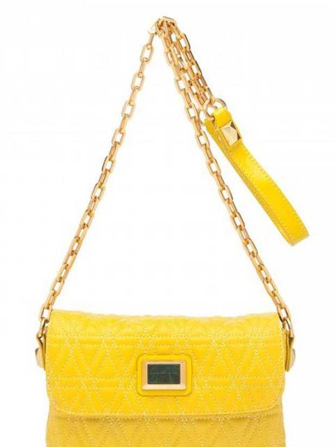 "<p>Marc by Marc Jacobs Cosmo cross body bag, £160, at <a href=""http://www.harveynichols.com/womens/categories/designer-handbags/cross-body/s343465-cosmo-cross-body.html?colour=YELLOW"">Harvey Nichols</a></p>"