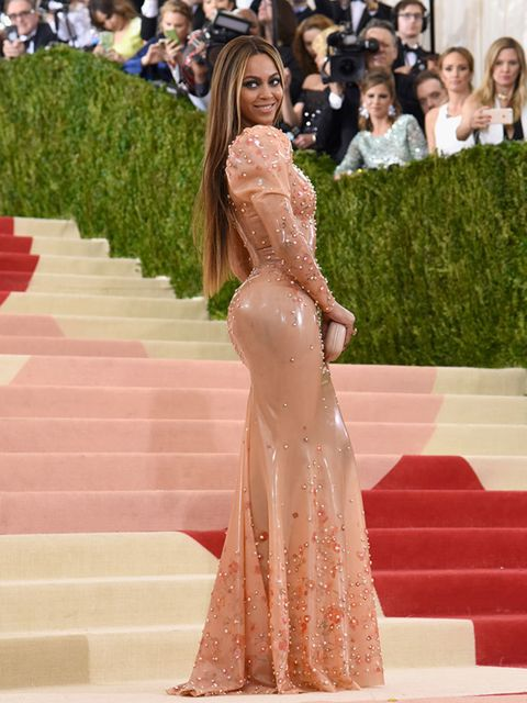 Beyoncé wears Givenchy Haute Couture by Riccardo Tisci at the Met Gala in New York, May 2016.