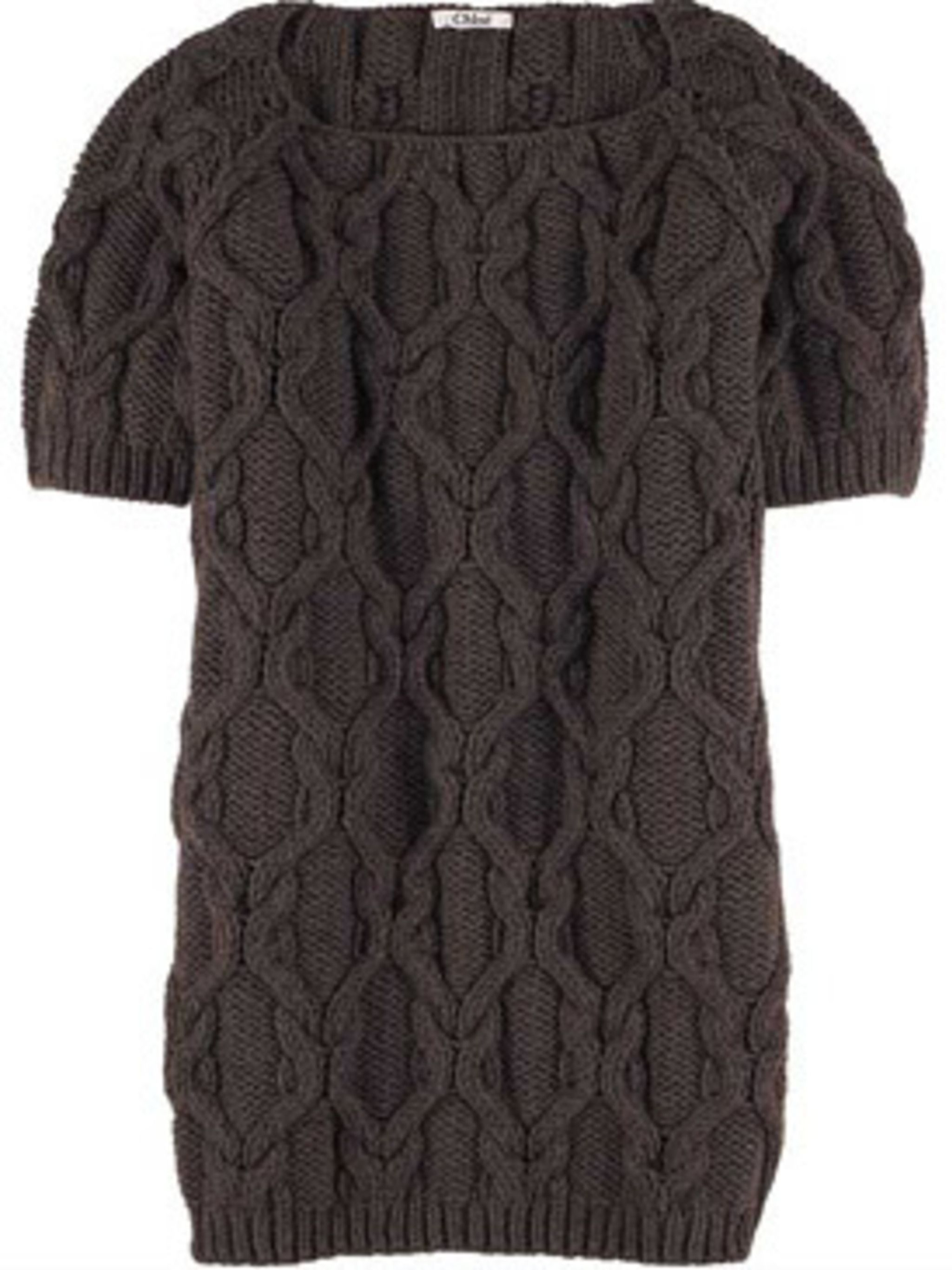 <p>Cable knit mini dress, £422, Chloe at Net-a-porter.com </p>