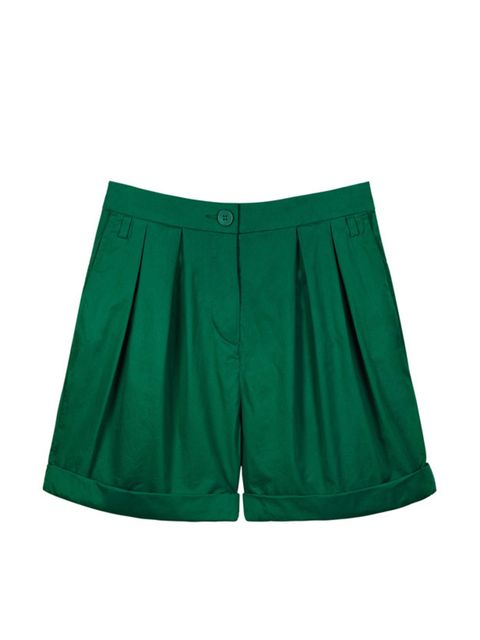 <p>Green tailored shorts, £45, by Cos (0207 478 0400)</p>
