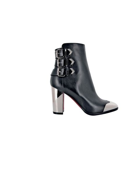 "<p><a href=""http://eu.christianlouboutin.com/uk_en/"">Christian Louboutin</a> leather and metal boots, £1,195</p>"