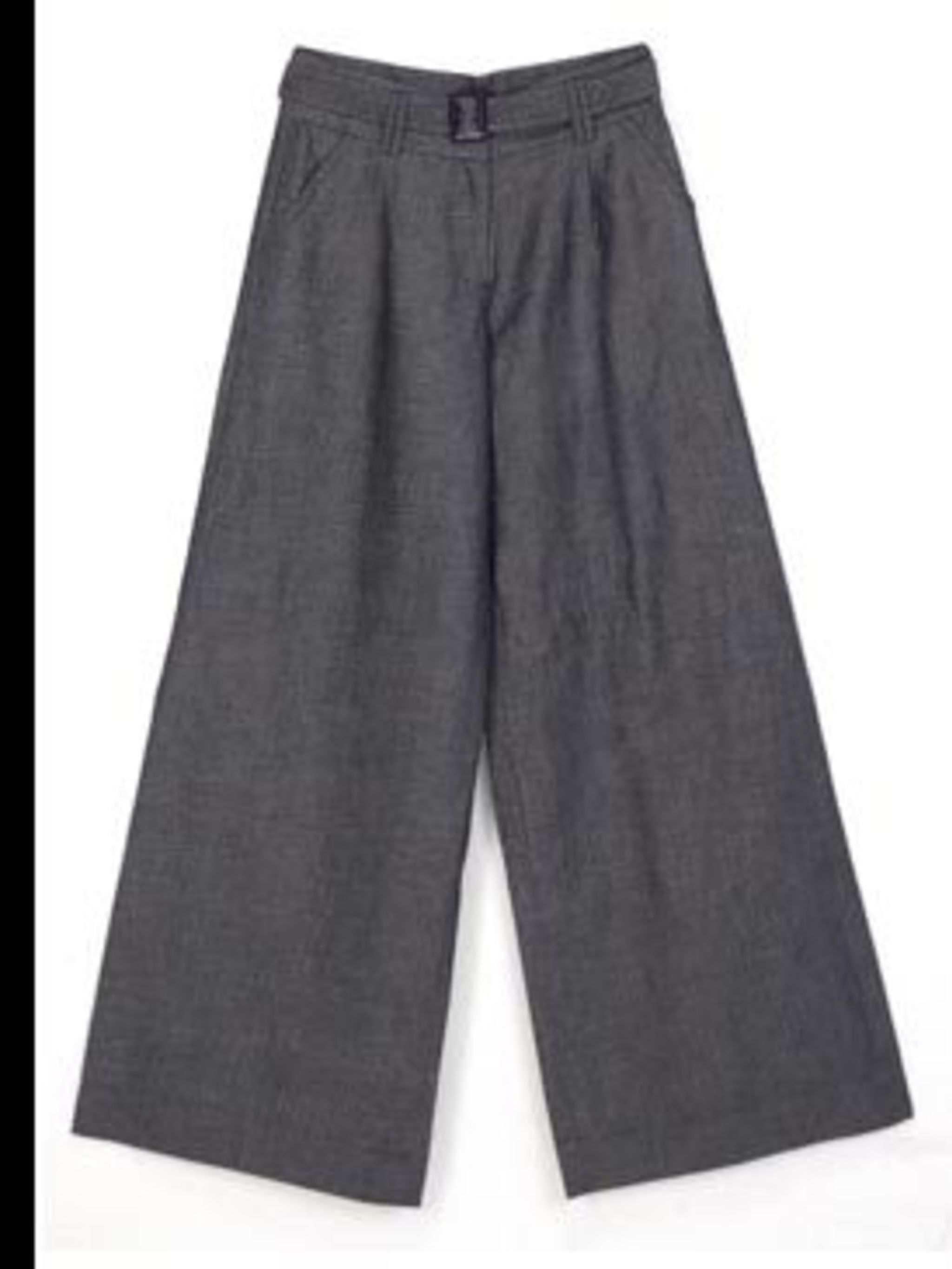 <p>Slouchy, wide leg trousers, £55, by Morgan, for stockists details call 020 7520 8160</p>