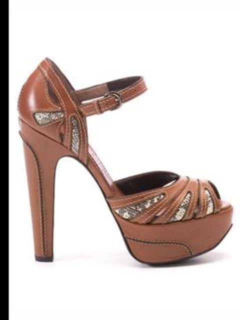 <p>Platform heels, £490, by Barbara Bui. For stockist details call 020 8209 0420</p>