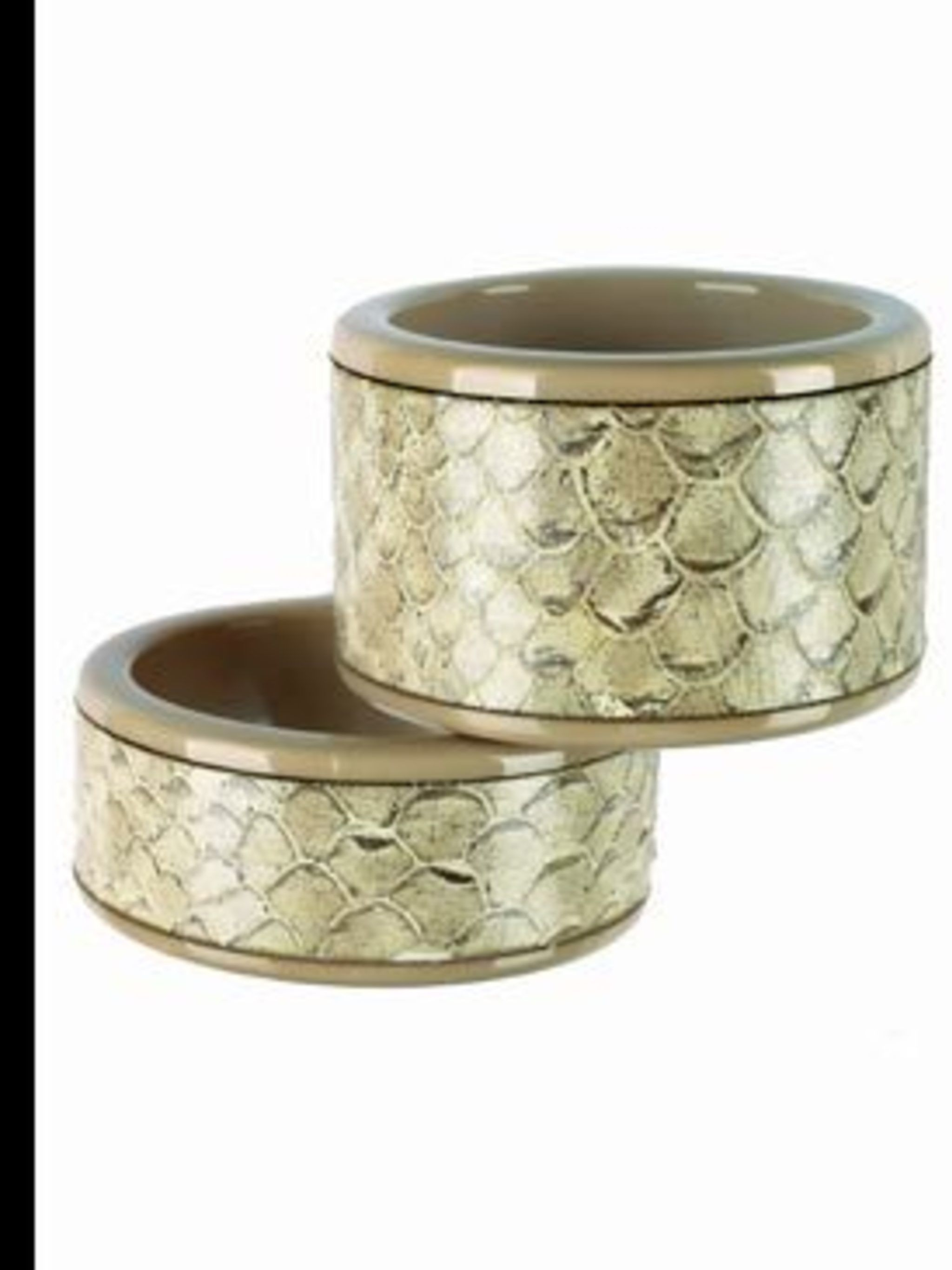 <p>Bangles, £99, by Emporio Armani. For stockist details call 020 7491 8080 </p>