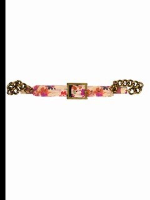 <p>Leather and metal chain belt, £175, by Paul Smith. For stockist details call 020 7379 7133.</p>