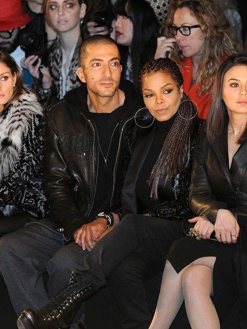 <p>Janet Jackson on the front row at Roberto Cavalli during Milan Fashion Week.</p>