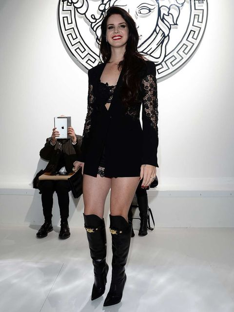 <p>Lana Del Rey at the Versace show in Milan.</p>