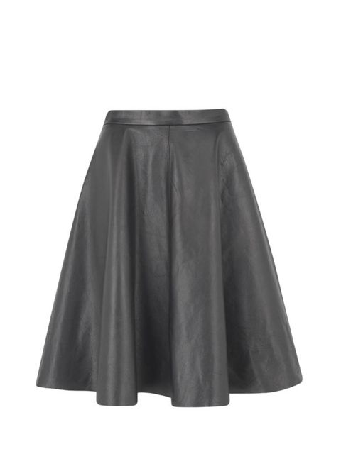 <p>Marks & Spencer full leather skirt, £99 (0845 302 1234)</p>