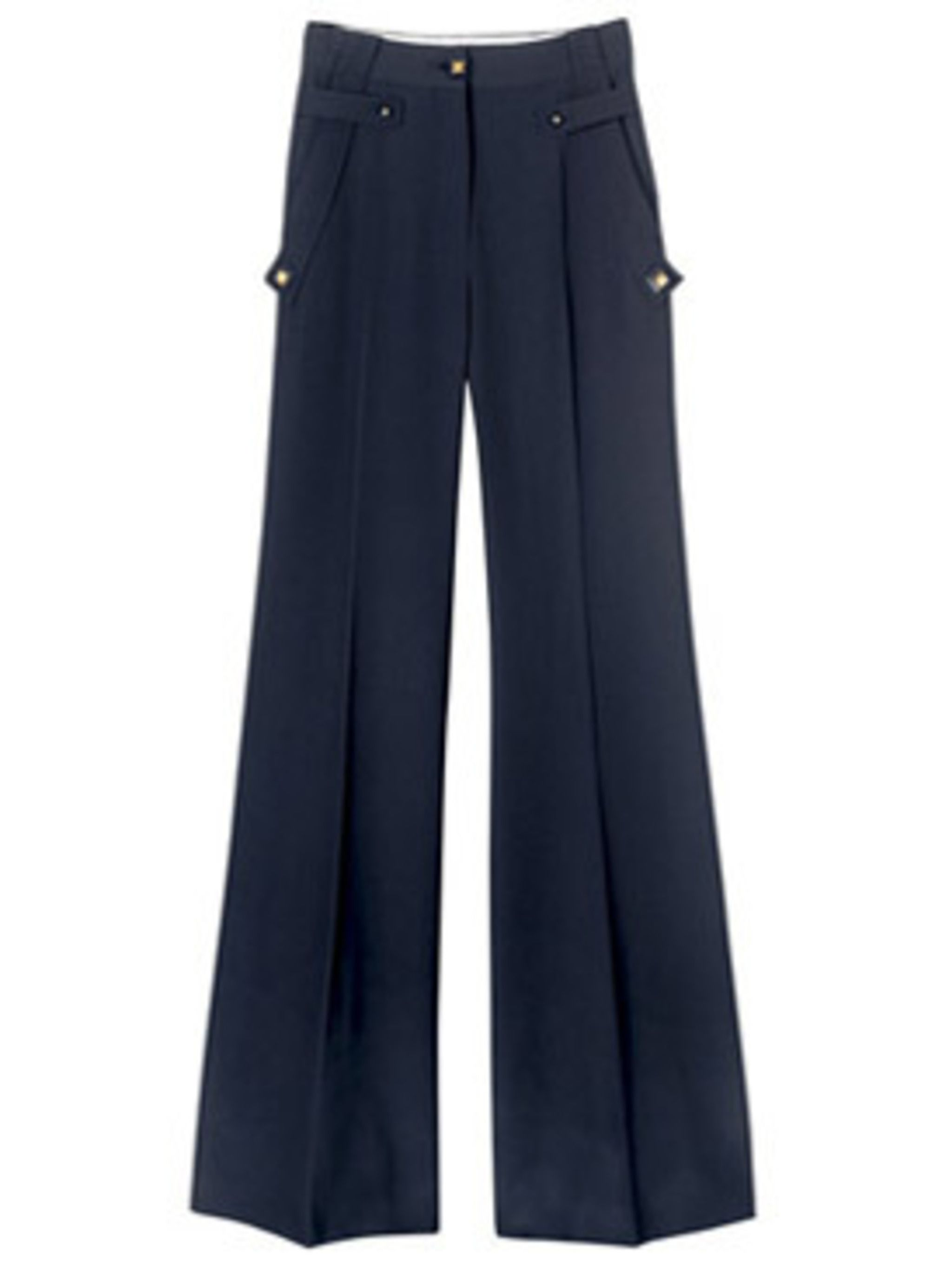 <p>Wide leg, high waist trousers, £534, Givenchy at Harvey Nichols, (stockists) 0207 245 5000</p>