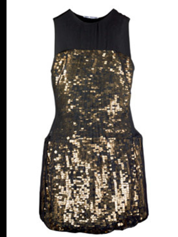 <p>Metallic shift dress, £1, 875, by Osman Yousefzada at Selfridges (0800 123 400) </p>