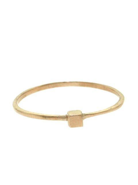 "<p>Rose gold cube ring, £105, by Iwona Ludyga at <a href=""http://www.kabiri.co.uk/tiny-cube-ring-rose.html"">Kabiri</a></p>"
