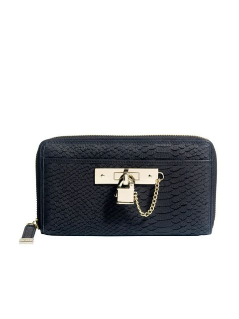 "<p><a href=""http://www.reissonline.com/shop/womens/bags/doli/graphite/"">Reiss</a> padlock clutch, £89</p>"