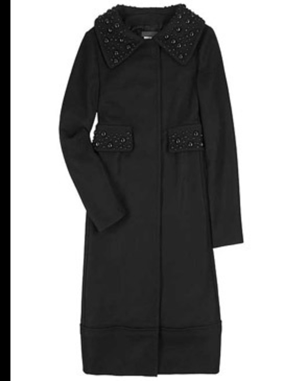 <p>Beaded evening coat, £829, by Alberta Ferretti at Harvey Nichols (0207 235 5000)</p>
