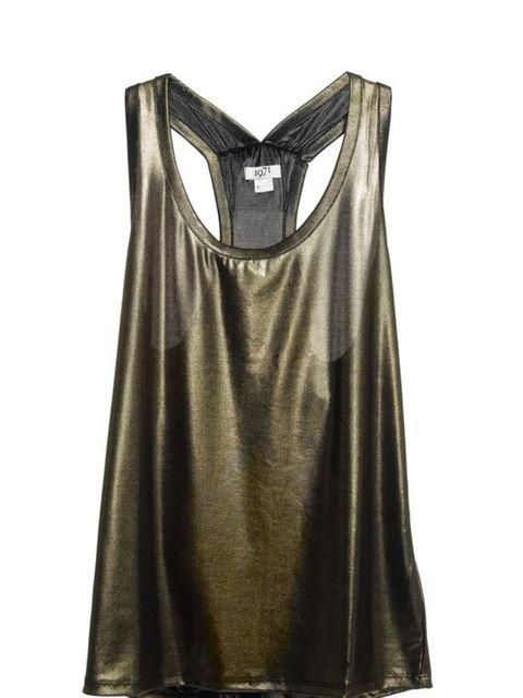 <p>1971 Reiss metallic vest, £49, for stockists call 020 7473 9630</p>