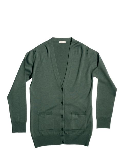 <p>Margaret Howell cardigan, £185, for stockists call 020 7009 9009</p>
