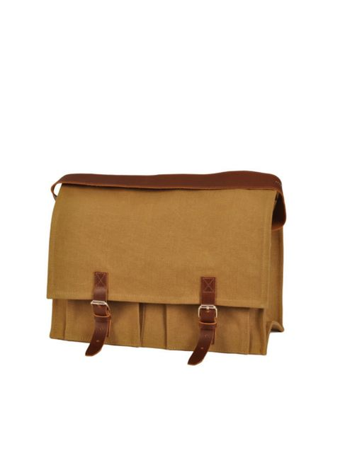 "<p>Canvas satchel, £152, by <a href=""http://www.antoniandalison.co.uk/"">Antoni & Alison </a></p>"