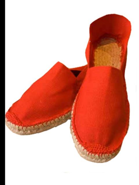 "<p>Rouge Espadrille, £15.00 from <a href=""http://www.espadrille.co.uk/proddetail.php?prod=10010009"">Espadrille.co.uk</a></p>"