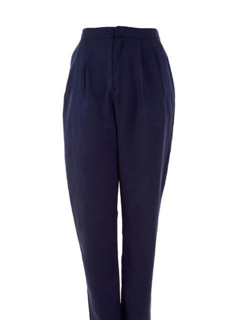 "<p>Navy tapered trousers, £125, by YMC at <a href=""If%20you%E2%80%99re%20contemplating%20a%20summer%20of%20festivals,%20parks%20and%20beer%20gardens,%20add%20a%20straw%20boater%20to%20your%20wardrobe%20essentials.%20Guaranteed%20to%20keep%20you%20stylishl"