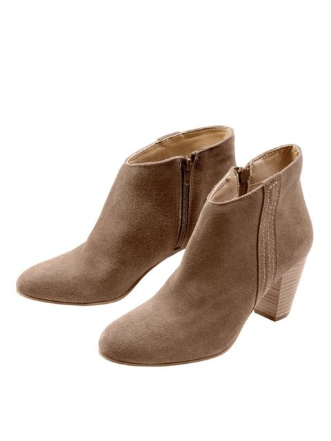 "<p>Suede ankle boots, £79, by <a href=""http://www.laredoute.co.uk/clothing/Shoes.aspx?CategoryId=61035209&Path=61026618/61035209&ChmCatId=61035209"">La Redoute</a> </p>"