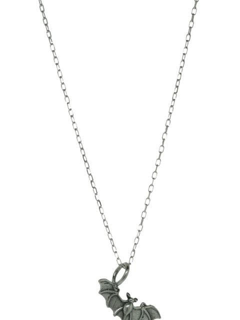 "<p>Silver bat necklace, £62, by Giles &amp&#x3B; Brother at <a href=""http://www.kabiri.co.uk/tiny-bat-necklace.html"">Kabiri</a></p>"