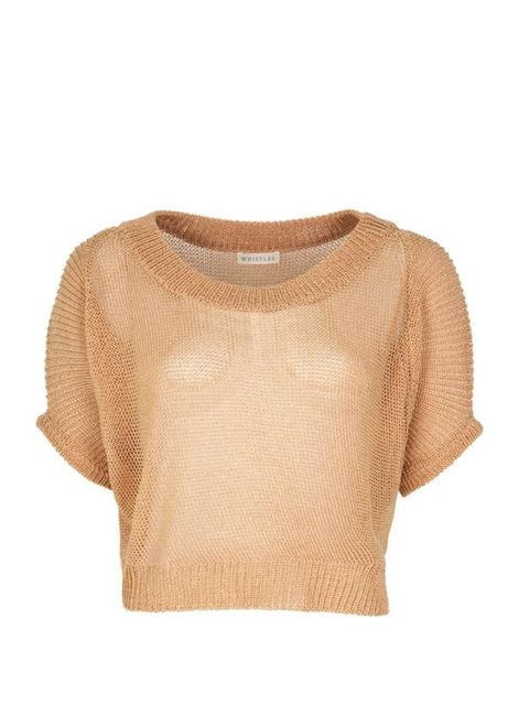 "<p>Cropped knitted sweater, £195, by <a href=""http://www.whistles.co.uk/fcp/categorylist/dept/shop?resetFilters=true"">Whistles</a> </p>"