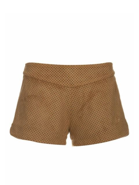 <p>Tan suede shorts, £150, by Reality Studio at Topshop (0845 121 4519)</p>