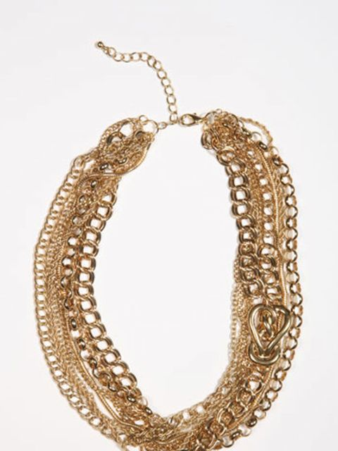 <p>Multi chain necklace, £26, by Urban Outfitters </p>