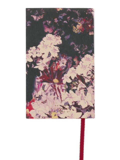 """<p>Floral print notebook, £90, by Erdem for Smythson at <a href=""""http://www.net-a-porter.com/product/78706"""">Net-a-Porter</a></p>"""