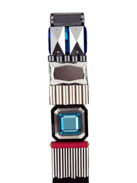 <p>Geometric bracelet, £325, by Lucy Hutchings at Start (0207 729 3334)</p>