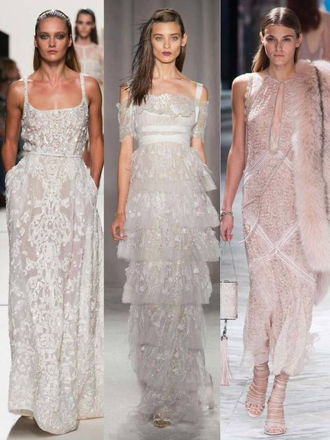 """<p>Bias cut gowns of sensuous silk; frothy, feminine confections of light-as-air chiffon. For the <a href=""""http://www.elleuk.com/style/occasions/elle-weddings"""">fashion bride</a>, the spring/summer 2014 <a href=""""http://www.elleuk.com/catwalk"""">catwalks</a>"""