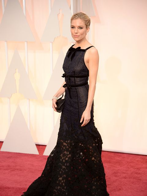 Sienna Miller at the 2015 Oscars.