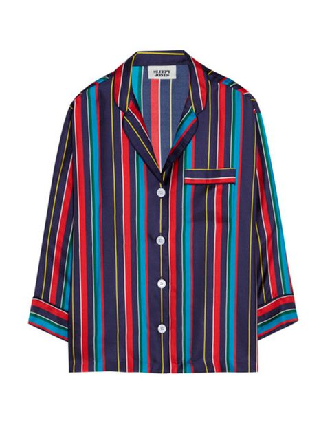 "<p>Shirt, £245, Sleepy Jones at <a href=""https://www.net-a-porter.com/gb/en/product/644600/Sleepy_Jones/marina-striped-silk-charmeuse-pajama-shirt"" target=""_blank"">Net A Porter</a></p>"