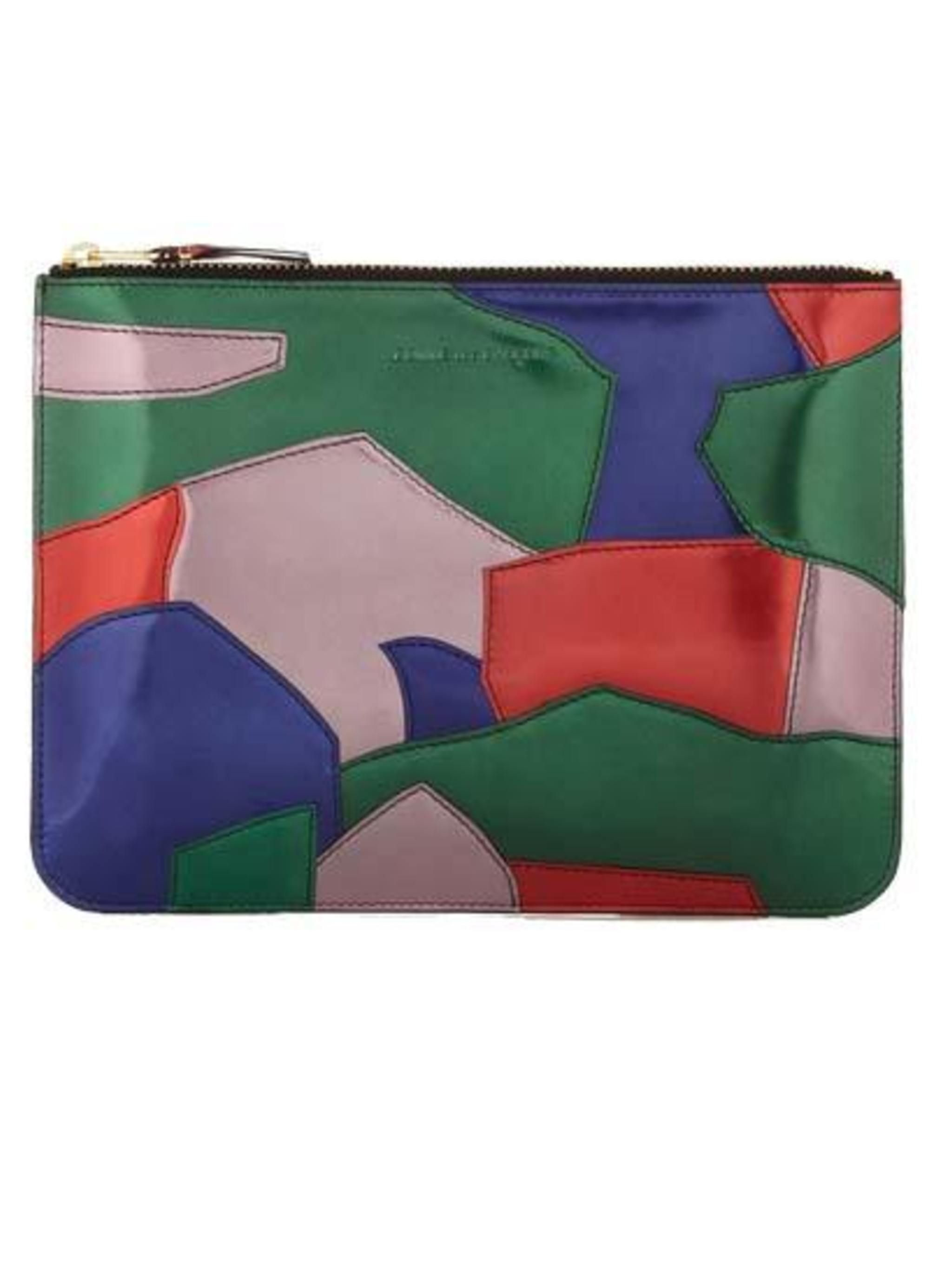"<p>Precious Metals.. </p><p>Patchwork metallic pouch £205 by CDG from <a href=""http://shop.doverstreetmarket.com/comme-des-garcons/wallets/patchwork-metal/cdg-patchwork-metal-wallet-sa5100pm"">DoverStreetMarket</a></p>"
