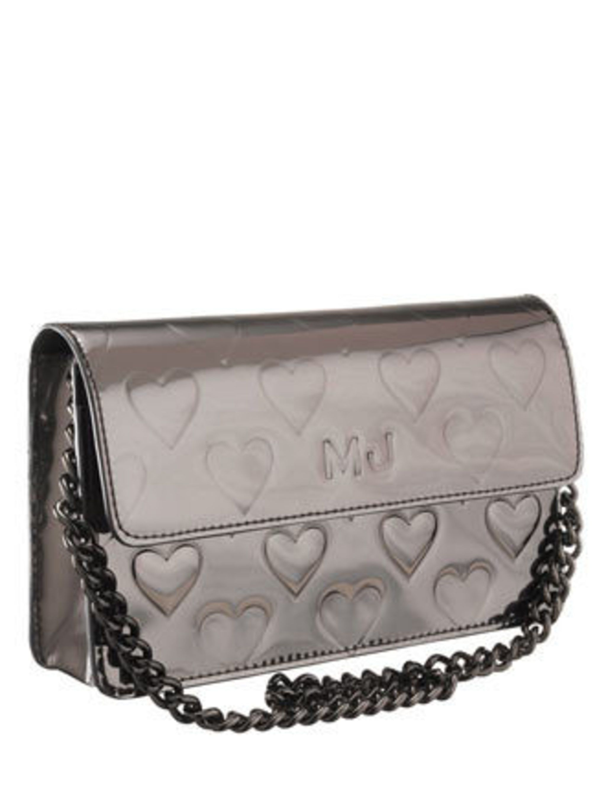 <p>Affordable and designer, what more could a girl want? We fell in love with this metallic, heart bag by Marc Jacobs the moment we saw it. Make sure it is under your tree this Friday.</p><p> Bag, £28 by Marc by Marc Jacobs </p>