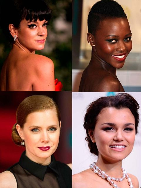 <p>Last night the stars were out in London for the Baftas. From bold lips to this season's graphic liner here is Beauty Director Sophie Beresiner's edit of the best looks...</p>