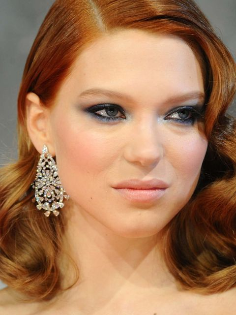 <p>Lea SeydouxRising star nominee Lea is something of a red carpet chameleon. Looking more like a supermodel than underground actress, the face of Prada broke out the big dogs with navy, winged metallic smoke to compliment her Miu Miu gown. The cinnamon c