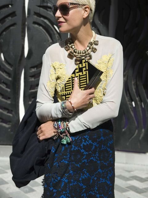 "<p><a href=""http://www.elleuk.com/fashion/what-to-wear/elle-wears-lace"">Lace</a> street style at <a href=""http://www.elleuk.com/style/street-style/london-fashion-week-2012"">London Fashion Week </a></p>"